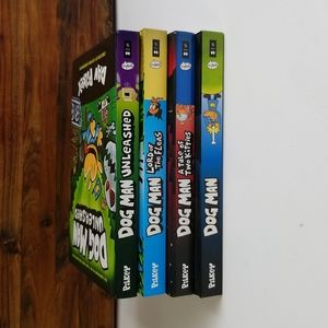 (4) Dog Man HC Graphic Novels by Dan Pilkey the Creator of Captain Underpants